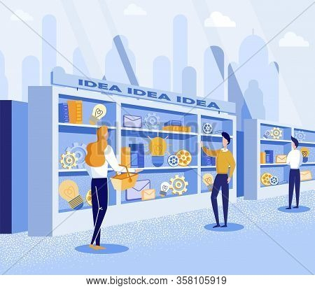 Poster People Choose Best Ideas And Refine Them. Special Techniques Will Make Process Creating Ideas