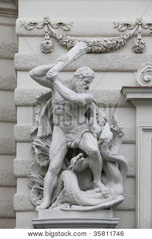 Hercules fighting the Hydra, Hofburg, Vienna