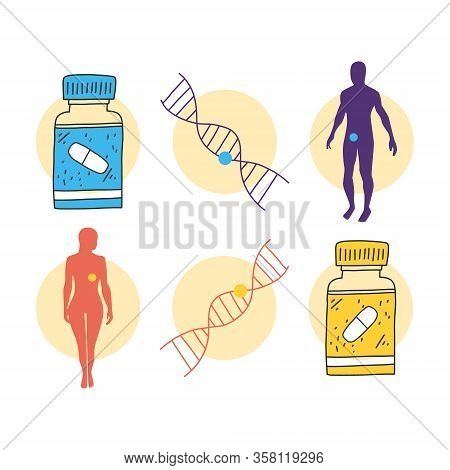 Precision Medicine, Genetic Information Treatment. Patient Care Allows Doctors To Choose Treatment M