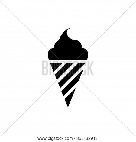 Ice Cream Icon Vector Template Design Trendy