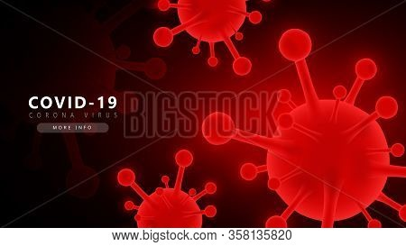 Red Coronavirus Covid-2019 Futuristic Background.coronavirus Covid-2019 Futuristic Background. Covid