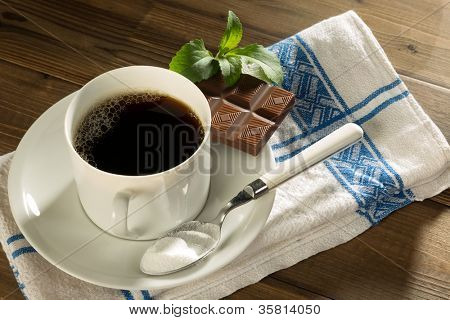 Chocolate and coffee sweetened with natural stevia and no sugar