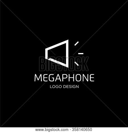 Simple And Clean Line Logo Design For Megaphones With Clean Background - Eps10 - Vector.