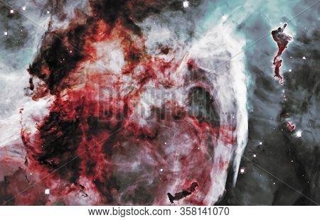 Carina Nebula, Grand Nebula, Elements Of This Image Furnished By Nasa.
