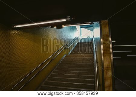 Stairs Form The Train Station Close Up