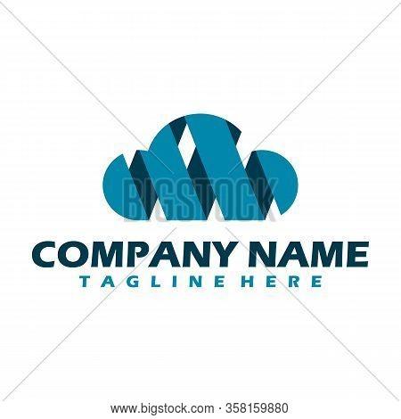 Cloud Tech Logo Design Template Icon . Cloud Digital Technology Logo