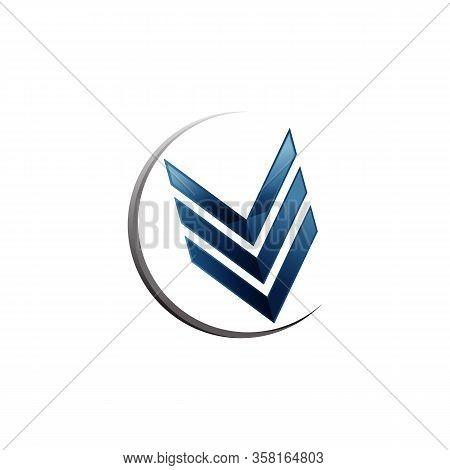 Arrow Symbol In Modern Design For Element Design. Button Arrow Symbol Wor Web Or Etc. Vector Illustr