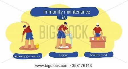 Maintaining Immunity. Influenza Virus, Coronavirus, Precautions, Sanitary Habits. Disinfection Of Pr