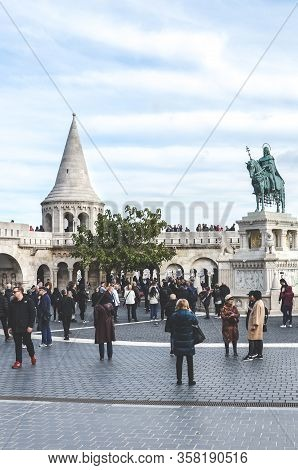 Budapest, Hungary - Nov 6, 2019: Fishermans Bastion In The Hungarian City. One Of The Best-known Mon