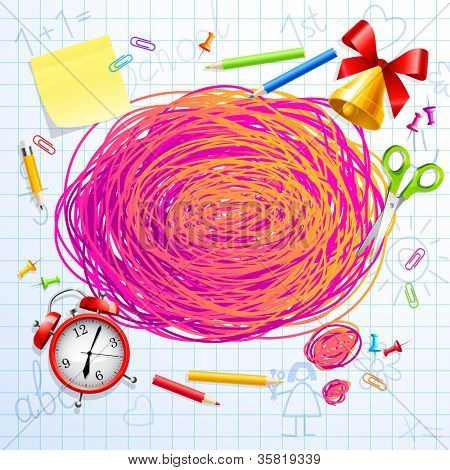 Hand drawn Bubble for speech. Back to School. Check my portfolio for vector version.