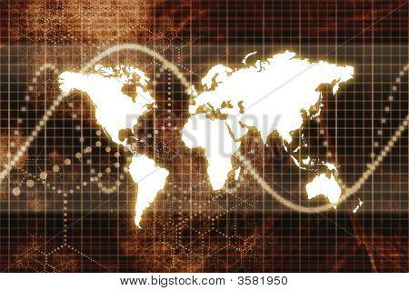 Orange Digital World Business Abstract