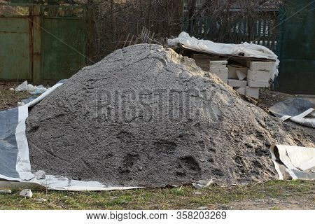 One Big Pile Of Fine Gray Rubble On The Street