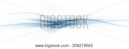 Background Smooth Blue Curves (3d Rendering Images)