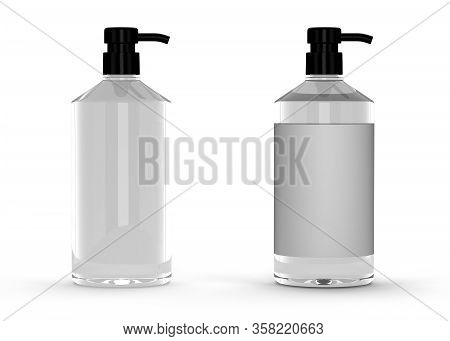 Blank Glass Package (isolated With Clipping Path)