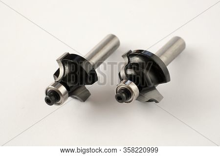 Wood Milling Cutter For Milling Machine. Metal Cutters Close-up.
