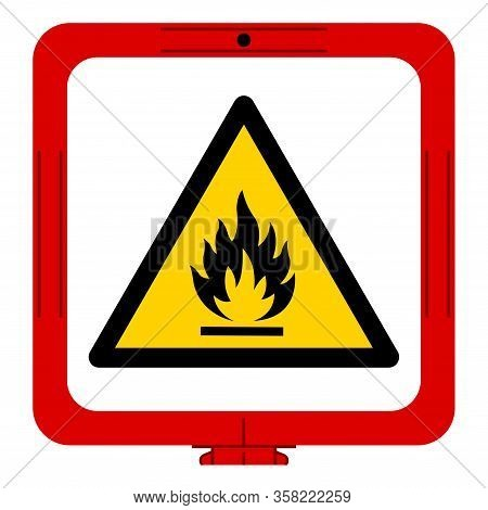 Warning Flammable Gas Symbol, Vector Illustration, Isolate On White Background Label. Eps10