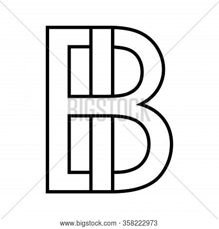Logo Sign Bi Ib Icon Sign Two Interlaced Letters B, I Vector Logo Bi, Ib First Capital Letters Patte
