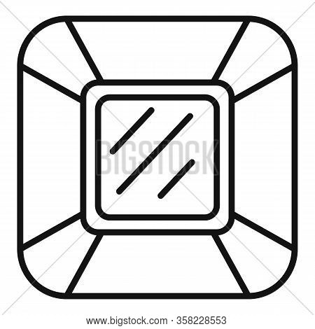 Jewel Icon. Outline Jewel Vector Icon For Web Design Isolated On White Background