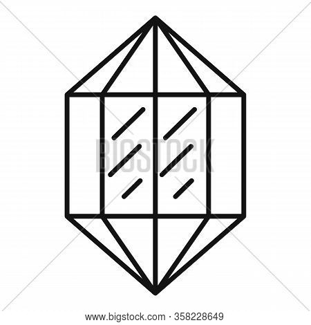 Luxury Jewel Icon. Outline Luxury Jewel Vector Icon For Web Design Isolated On White Background