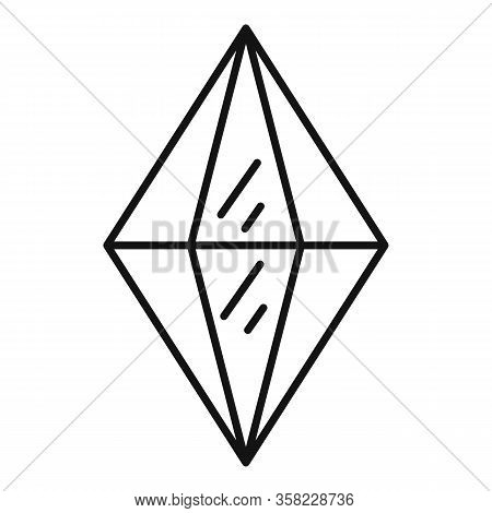 Tourmaline Jewel Icon. Outline Tourmaline Jewel Vector Icon For Web Design Isolated On White Backgro