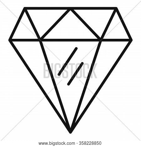 Perfection Gemstone Icon. Outline Perfection Gemstone Vector Icon For Web Design Isolated On White B