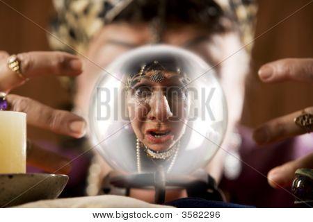 Gyspy Seen In A Crystal Ball