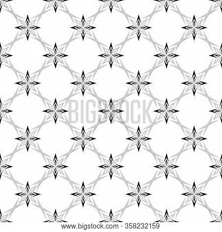 Geometric Ornamental With Square Of Arrows Seamless Pattern. Abstract Background Design. Modern Styl