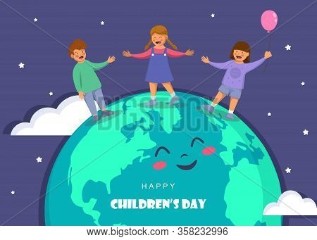 Happy Childrens Day. World childrens day vector Childrens day background.