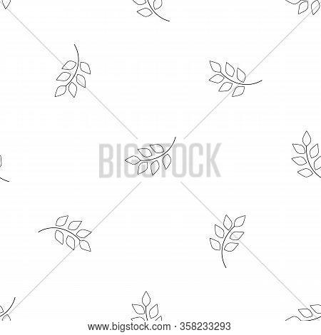Leaf Seamless Pattern. Fashion Graphic Background Design. Modern Stylish Abstract Texture. Monochrom