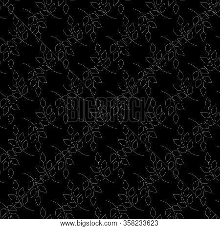 Abstract Leaf Seamless Pattern. Fashion Graphic Background Design. Modern Stylish Abstract Texture.