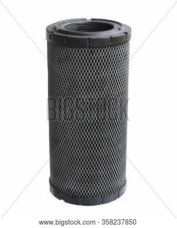 Air Filter Heavy Duty For Excavator (with Clipping Path) Isolated On White Background