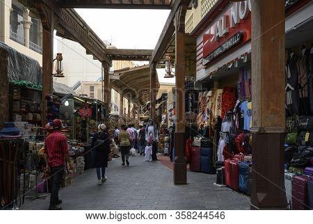 Bur Dubai Souk Market Uae. Clear Day March 14, 2020
