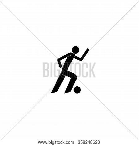 Footballman Silhouette. Logo Professional Sports. Monochrome Template For Poster, Logo, Ets. Design