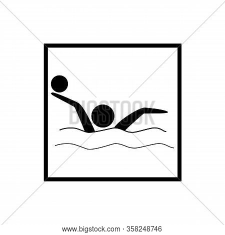 Water Sports. Water Polo Icon. Silhouette Emblem Of Water Polo. Logo Professional Sports In Water. M