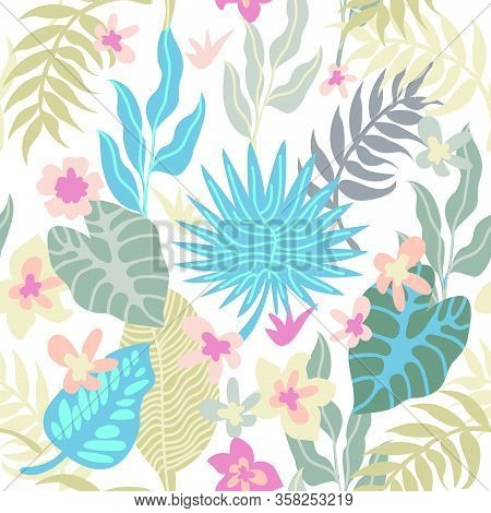 Aloha Textile Collection. Template For Dresses, Scarves, Swimsuits.