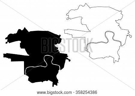 Arad City (republic Of Romania) Map Vector Illustration, Scribble Sketch City Of Arad Map