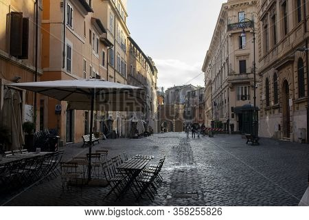 View Of The Jewish Ghetto In The Old Town Of Rome