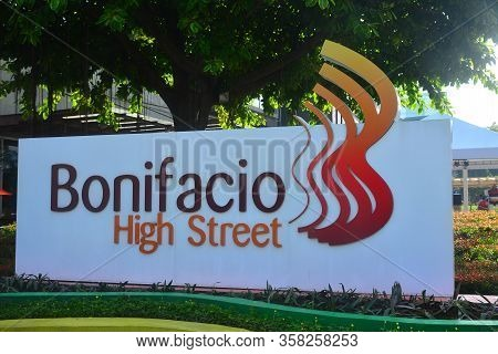 Taguig, Ph - Oct. 1: Bonifacio High Street Signage On October 1, 2016 In Bonifacio Global City, Tagu