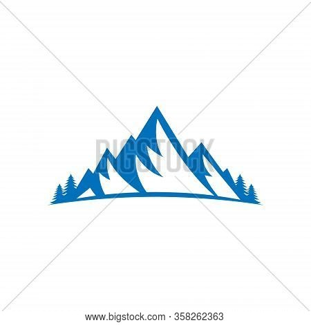 Mountains. Mountain logo vector. Mountain icon vector. Mountain icon. Mountains logo. Mountain logo template. Mountains logo design. Mountains emblem logo. Mountains logo vector illustration for Outdoor Adventure.