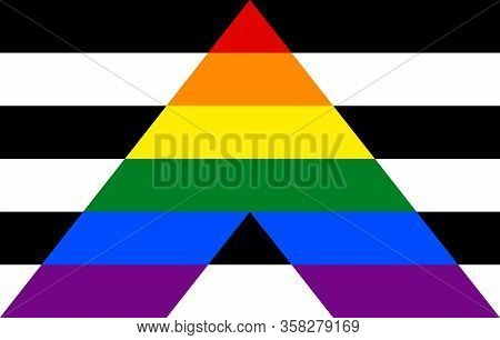 Stright Ally Pride Community Flag, Lgbt Symbol. Sexual Minorities Identity. Vector Illustration