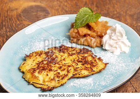 Bavarian Sweet Hash Browns On A Plate