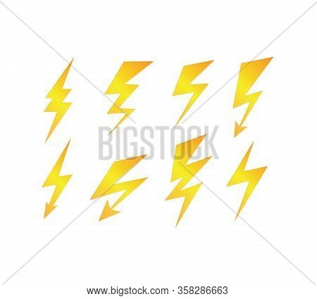 Lightning Bolt Vector Icon. Flash Icon. Bolt Of Lightning Vector. Streak Of Light Sign. Electric Bol