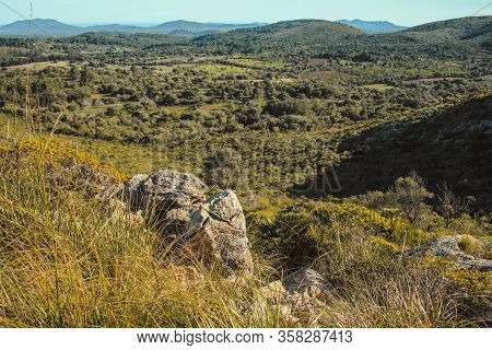 View Over Parc Natural De La Peninsula De Llevant On The Island Of Mallorca, Spain
