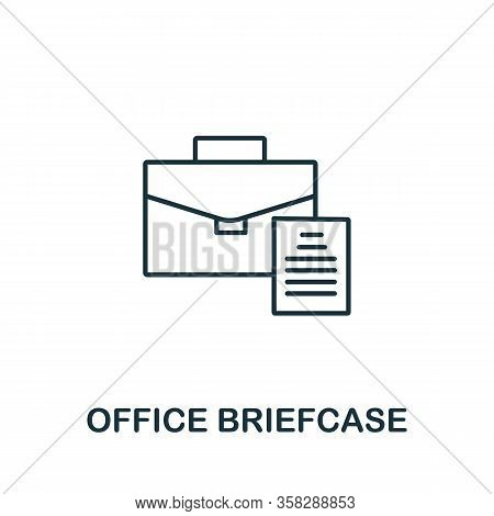 Office Briefcase Icon From Office Tools Collection. Simple Line Office Briefcase Icon For Templates,