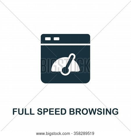Full Speed Browsing Icon From Seo Collection. Simple Line Full Speed Browsing Icon For Templates, We