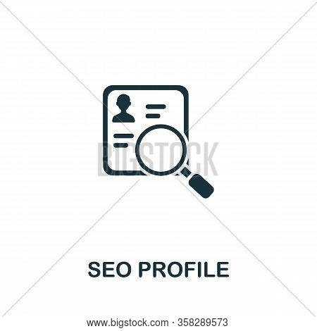 Seo Profile Icon From Seo Collection. Simple Line Seo Profile Icon For Templates, Web Design And Inf