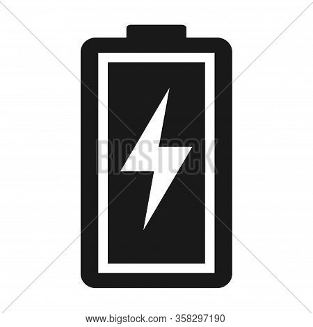 Battery Charge Indication Icon. Vector Illustration Isolated On White Background