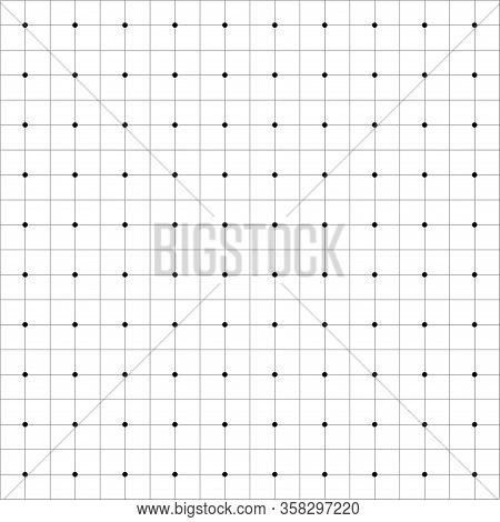 Blueprint Paper Grid With Empty Background Vector. Vector Blank Page Backdrop Template
