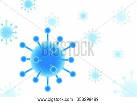 Vector Design Is Coronavirus, Covid-19 Or Wuhan. Look At The Glow In Beautiful Colors. But Hiding Fr