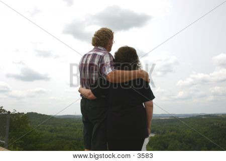 A Couple Looking At View